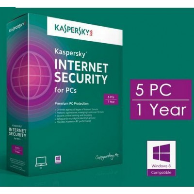 KASPERSKY INTERNET SECURITY 5PC/YEAR